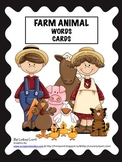 Farm Animal Word Cards Unit