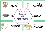 Farm Animal Word Wall Cards