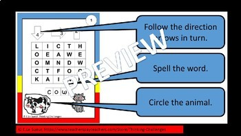Farm Animal Word Work - A  literacy center activity
