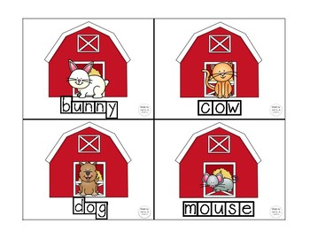 Farm Animal Word Writing Book and Activity