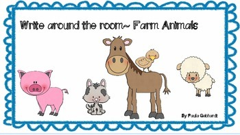 Farm Animal Write around the Room Printables