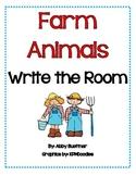 Farm Animal Write the Room Literacy Center