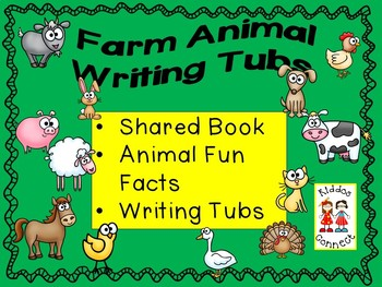 Farm Animal Writing Activities with Directed Drawings and Fun Facts