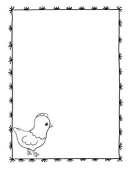 Farm Animal Writing Paper - 3 Styles - Black and White