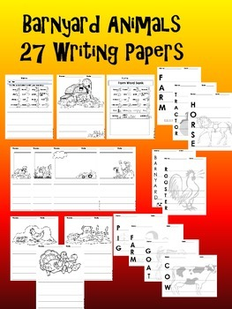 Farm Animal Writing Activities and Paper Pack