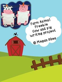 Farm Animal Writing Project Freebie