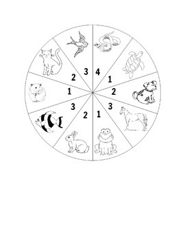 Farm Animal, Zoo Animal and Pet Spinner Games for Second Language Learners