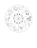 Farm Animal, Zoo Animal and Pet Spinner Games for Second L