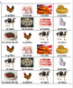 Farm Animal and Product Memory Game in Spanish - Class Set