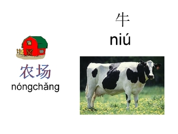Farm Animales in Chinese (Mandarin)-Powerpoint Activities
