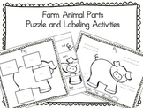 Farm Animals - Puzzle Parts and Labeling Activities (Set of 10)