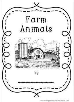 Farm Animals Activities for preschool, kindergarten