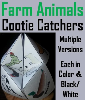 Farm Animals Activity/ Foldable: Rooster, Hen, Chick, Goose, Sheep, Rabbit, Goat
