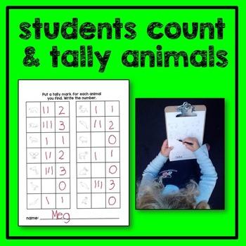 Farm Animal Count the Room Math Center