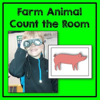 Farm Animal Count the Room Math Center