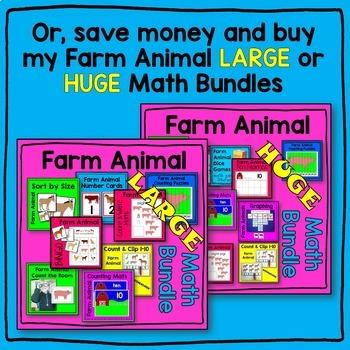 Farm Animal SMALL Math Center BUNDLE