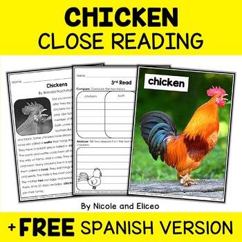 Farm Animal Close Reading Passages Bundle