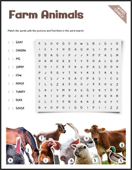 Farm Animals (Puzzles & Fun Stuff)