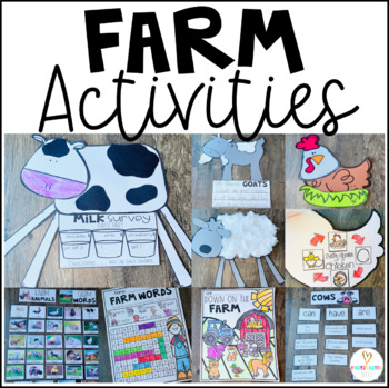 Farm Animals Activities, Science, Literacy Centers and Crafts Distance Learning