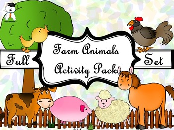 Activity Book - Cute Farm Animals - Fall activities