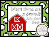 Farm Animals Adapted Book
