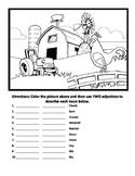 Farm Animals Adjectives Worksheet