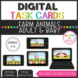 Farm Animals l Adult & Baby Matching l Interactive PDF l Differentiated