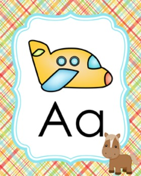 Farm Animals Alphabet Posters A - Z
