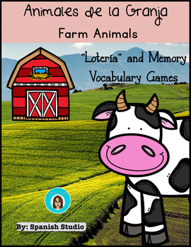 Farm Animals Vocabulary Activities (Spanish)