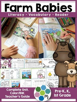 Farm Animals Babies ELA Unit & Reader Bundle!