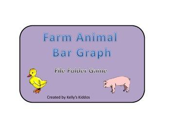 Farm Animals Bar Graph File Folder game