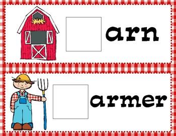 Farm Animals Beginning Sound Game Cards