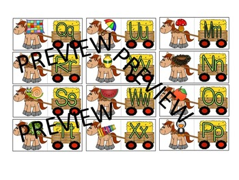 Farm Animals Beginning Sounds Literacy Center Puzzle Game and Activity