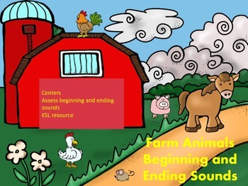 Farm Animals Beginning and Ending Sounds