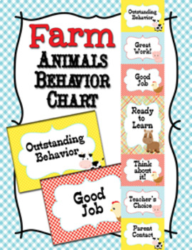Farm Animals Behavior Chart