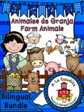 Farm Animals Bilingual Bundle
