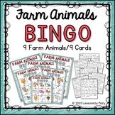 Farm Animals Bingo
