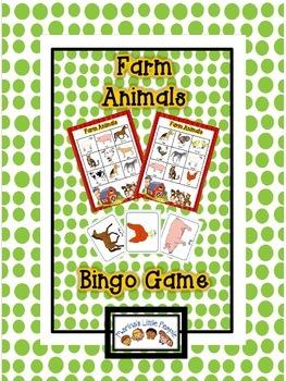 Farm Animals Bingo Game