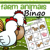 Farm Animals Bingo for Preschool and Pre-K