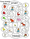 Farm Animals Board Game