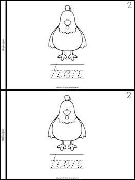 Farm Animals Book for Kindergarten and 1st Grade {D'Nealian Style}