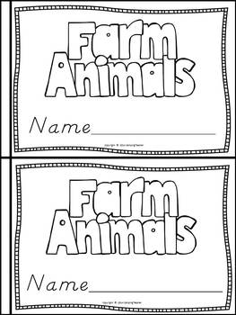 Farm Animals Book for Kindergarten and 1st Grade {D'Nealian Style}