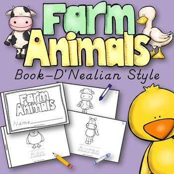 Farm Animals Book for Kindergarten and 1st Grade {D'Nealia