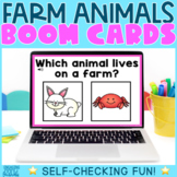 Farm Animals Boom Cards - Distance Learning
