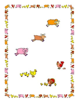 Farm Animals Border and Clip Art