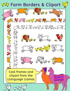 Farm Animals Border and Clip Art