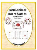 Games Farm Animals Broad Games and Mazes Pre-K, K, Autism,