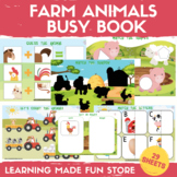 Farm Animals Busy Book Preschool Learning Binder Kindergar