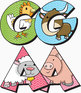 "Farm Animals! Clip Art Alphabet, 88 PNGs, 3.5"" 300 DPI  Vector and PNG"