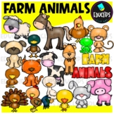 Farm Animals Clip Art Bundle {Educlips Clipart}